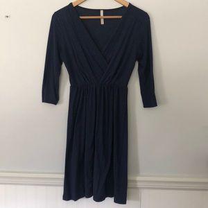 GIlli USA knit navy blue dress